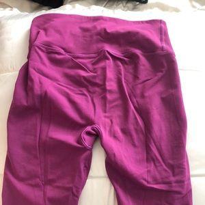 Magenta base layer Lululemon leggings. Size 6